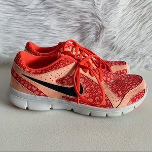 Nike Pink Leopard Flex Experience Sneakers